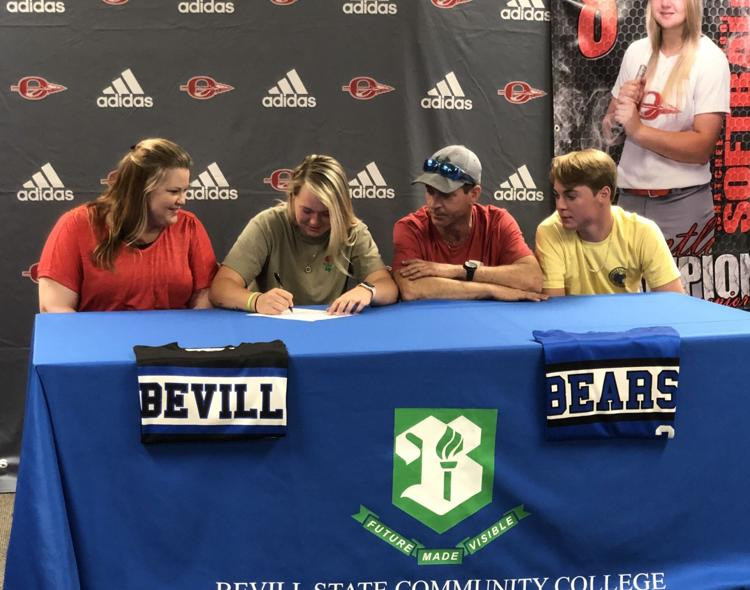 Photo of Brentli Champion Signing with Bevill State