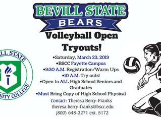 Bevill State Volleyball to Hold Open Tryouts