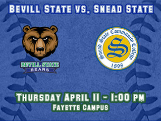Bevill State Hosts Snead State in Baseball