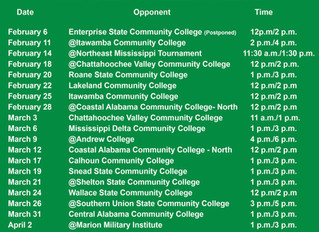 Spring 2020 Softball Schedule Announced