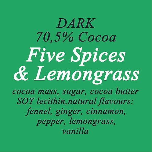 5 Spices & Lemongrass Dark Chocolate