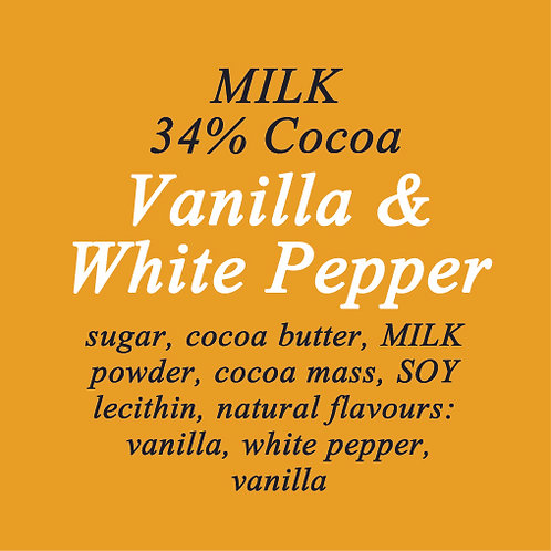 White Pepper & Vanilla Milk Chocolate