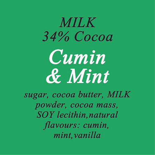 Cumin & Mint Milk Chocolate