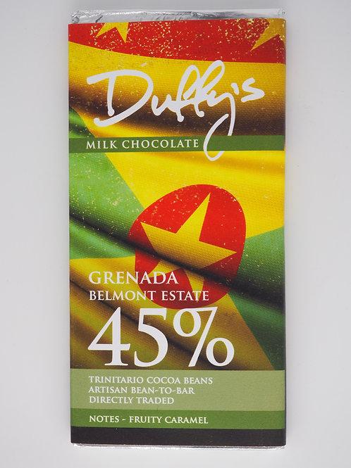 DUFFY'S Grenada milk 45% cooca