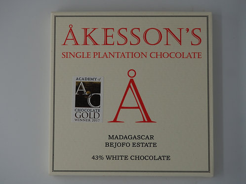 AKESSON Madagascar white 43% cocoa butter