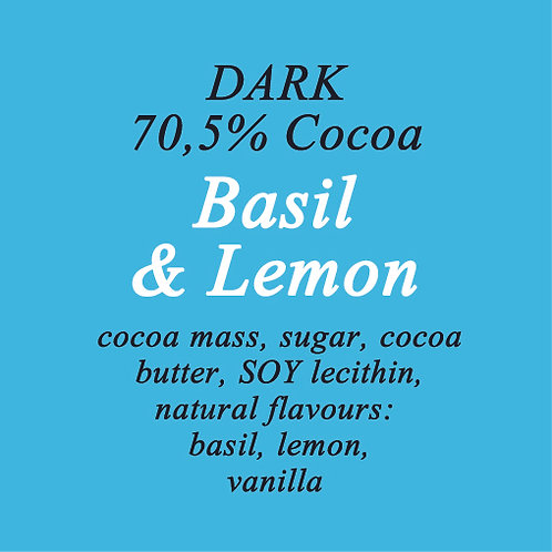 Basil & Lemon Dark Chocolate