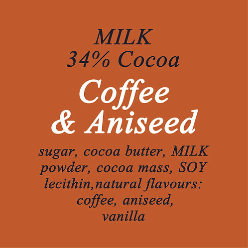 Coffee & Aniseed Milk Chocolate