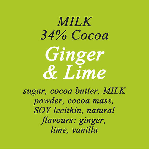 Ginger & Lime Milk Chocolate