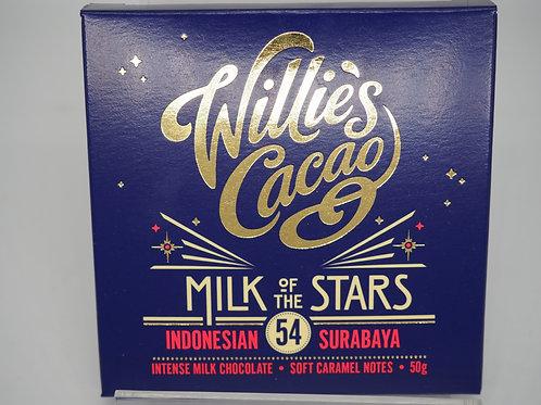 WILLIE'S CACAO Indonesia milk 54% cocoa