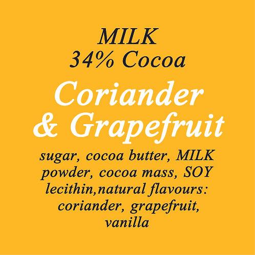 Coriander & Grapefruit Milk Chocolate