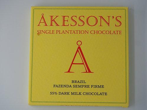 AKESSON Brazil milk 55% cocoa