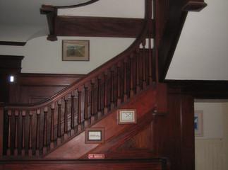 Fairmont House interior mahogany staircase