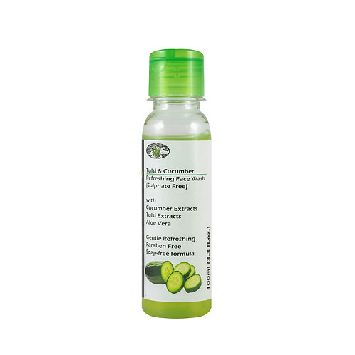 Tulsi & Cucumber Refreshing Face Wash - Sulphate Free, Herbal