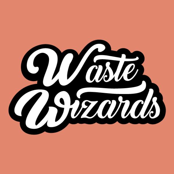 Wordmark_orange-background_Waste-Wizards
