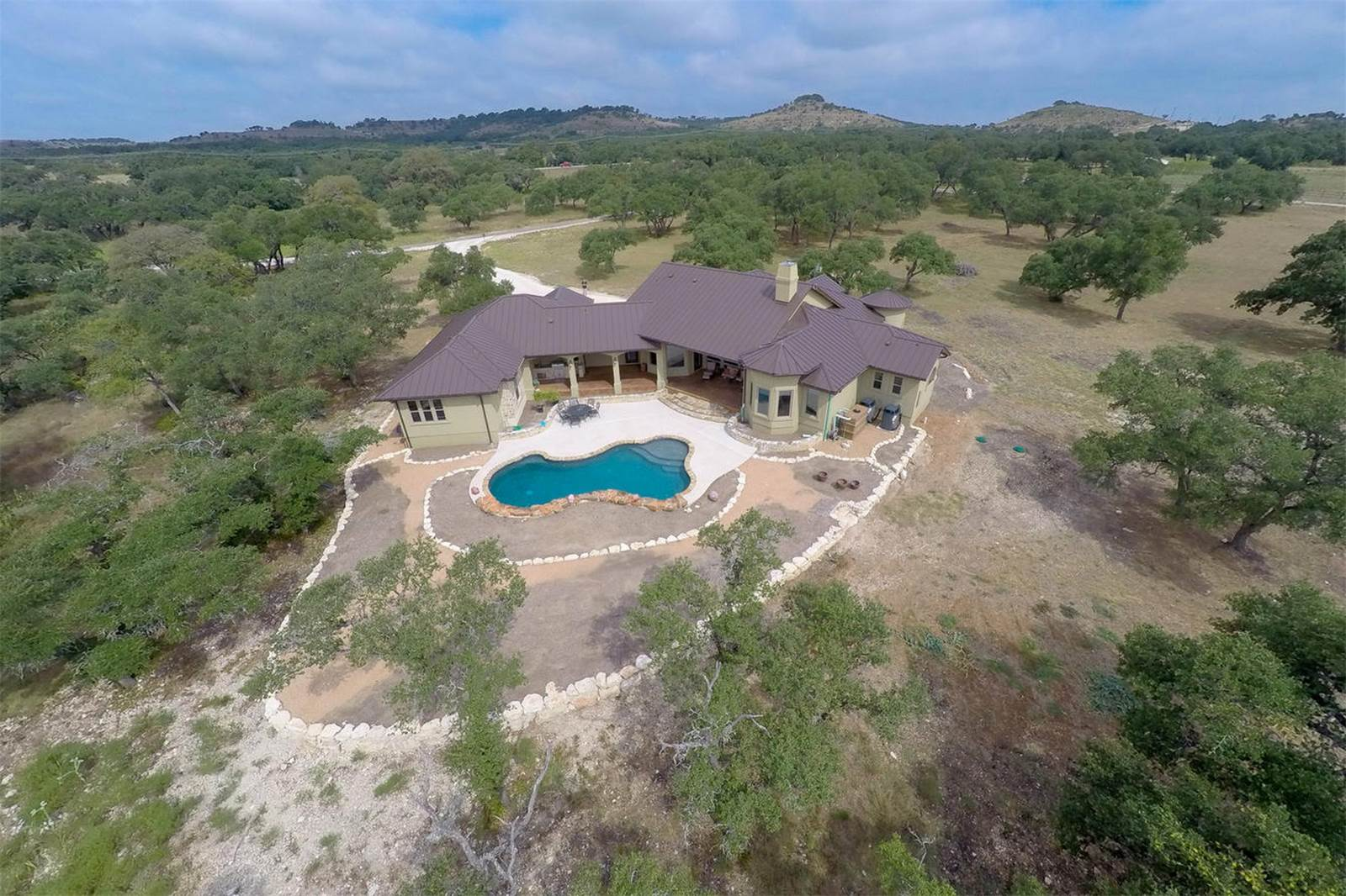 arial view house