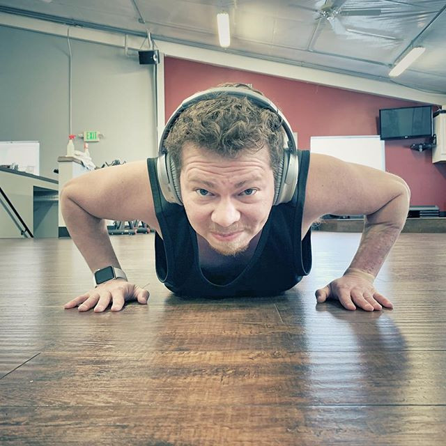 Push up time! It's so rad to go to the g