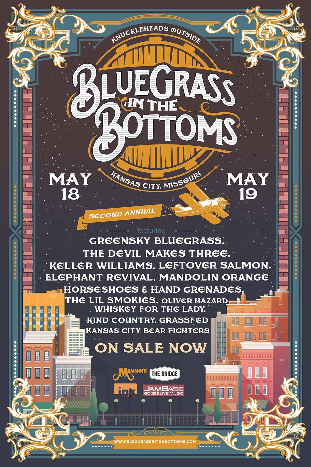 Bluegrass in the Bottoms flier