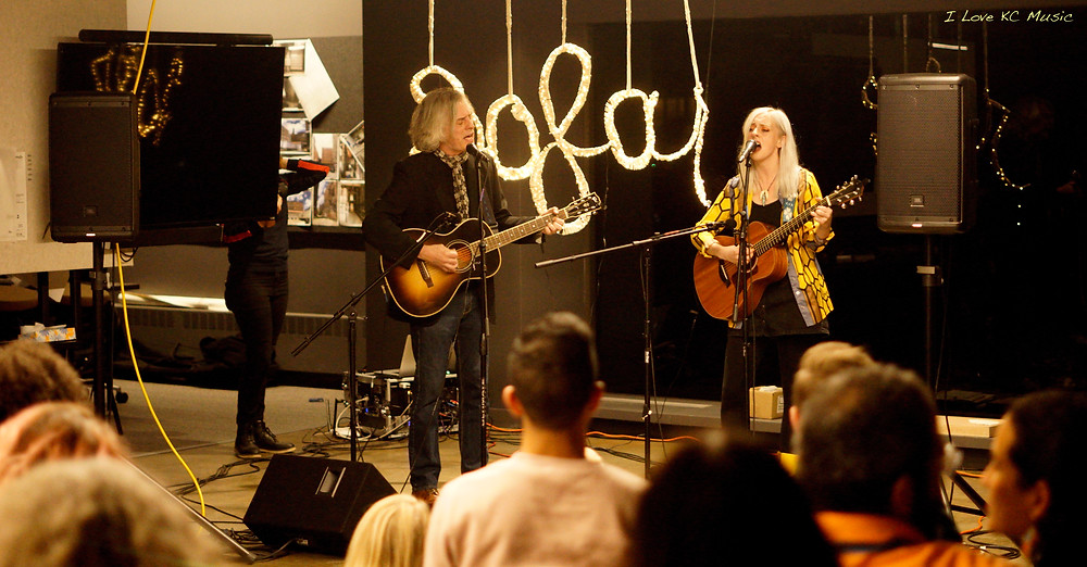 Bob and Una Walkenhorst playing at a Sofar Sounds KC Show