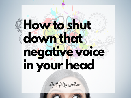 🗣How to shut down that negative voice in your head 🙈🙉🙊