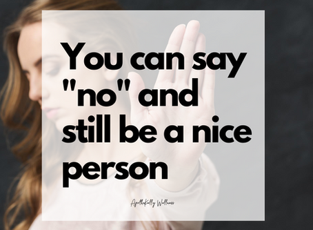 """You can say """"no"""" and still be a nice person"""