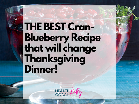 THE. BEST. Cran-Blueberry Sauce Recipe that might change Thanksgiving dinner forever!