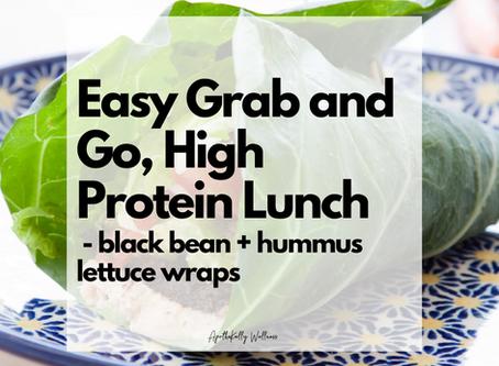 Black Bean and Hummus Burrito/Lettuce Wraps   gluten-free   dairy-free