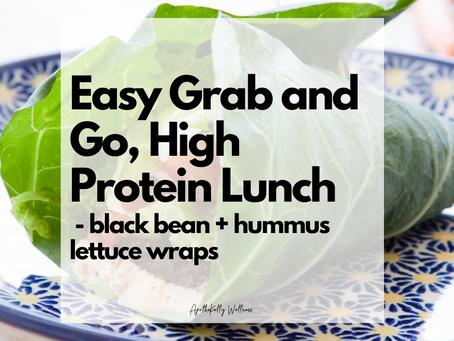 Black Bean and Hummus Burrito/Lettuce Wraps | gluten-free | dairy-free