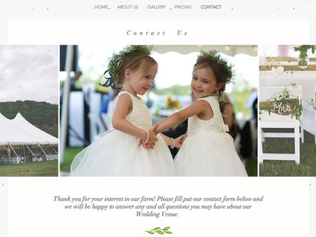 Weddings at Castle Hill Farm- Website Update