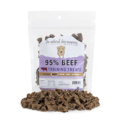 The Natural Dog 95% Beef Training Bites 6oz