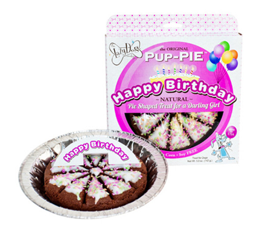 Lazy Dog Birthday Pup Pie 5oz Multiple Colors Available