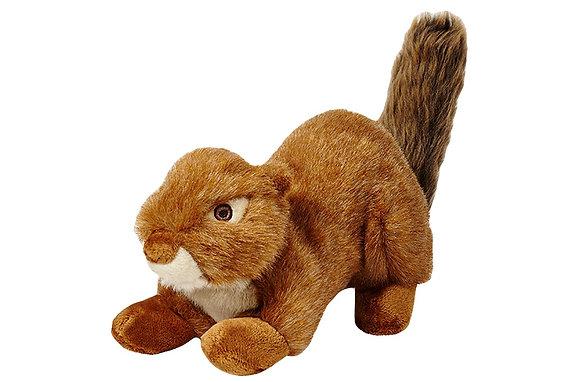 Fluff & Tuff Red Squirrel - Squeakerless
