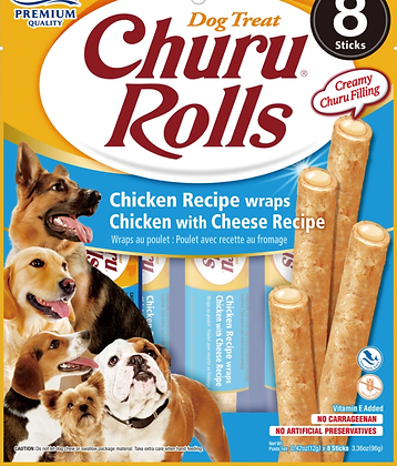 Inaba Churu Rolls Chicken with Cheese for Dogs