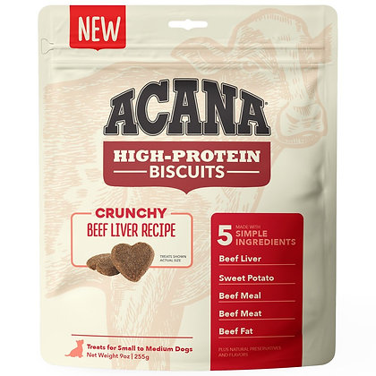 Acana High-Protein Biscuits Crunchy Beef Liver Recipe 9oz