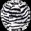Thumbnail: Fluff & Tuff Zebra Ball - Squeakerless