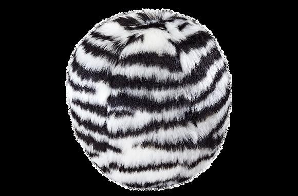 Fluff & Tuff Zebra Ball - Squeakerless