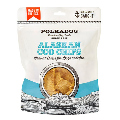 Polka Dog Alaskan Cod Chips 3.5oz