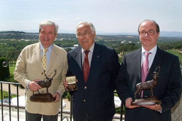 Los premiados Iñigo Moreno de Arteaga, marqués de Laserna, Juan José Viola Cardoso y Juan José Béjar Delgado  (Fotografía: Cesáreo Martín Martínez)