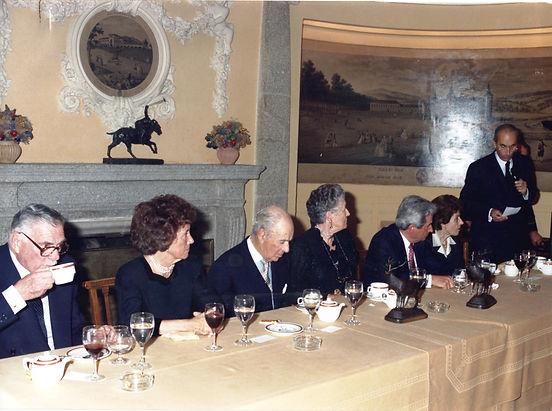 Marques de la Viesca, Maria Cabanyes, Conde de Teba, Infanta Dª Alicia, Iñigo Moreno de Arteaga, Condesa de Teba y César Fernández de la Peña. (Fotografía: Real Club de Monteros)