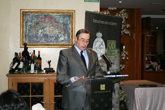 Rafael Castellano Barón, conde de Priego, en su calidad de secretario, nos ofreció la lectura del acta del Jurado del Premio Literario Jaime de Foxá(Fotografía: Santiago Segovia Pérez)