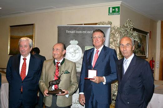 Iñigo Moreno de Arteaga, marqués de Laserna, José Madrazo Ambrosio, Juan Luís Oliva de Suelves y César Fernández de la Peña(Fotografía: Santiago Segovia Pérez)