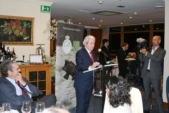 Iñigo Moreno de Arteaga, marqués de Laserna, inició el uso de la palabra celebrando que dos grandes amigos suyos hubieran recibido este honor(Fotografía: Santiago Segovia Pérez)