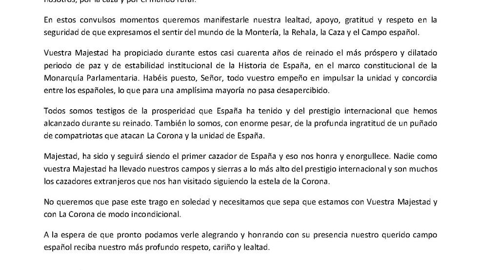 APOYO A S.M. JUAN CARLOS I