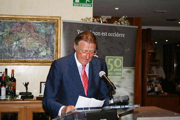 Juan Luís Oliva de Suelves, quien agradeció la concesión de esta distinción (Fotografía: Santiago Segovia Pérez)