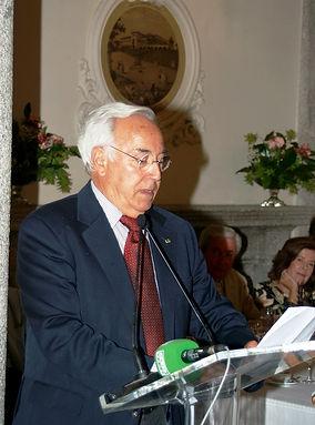 Juan José Viola Cardoso, agradeciendo el galardón recibido (Fotografía: Cesáreo Martín Martínez)