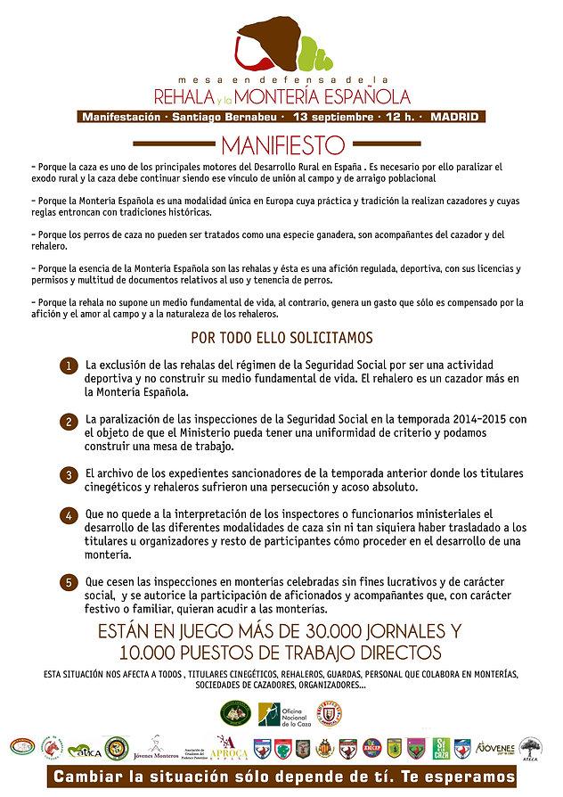 Manifiesto defensa reala y montería española