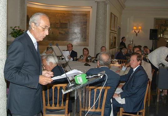 César Fernández de la Peña repasando de las actividades llevadas a cabo durante el último año (Fotografía: Cesáreo Martín Martínez)