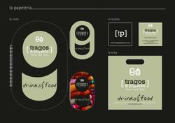 IC Logo, Escaparate, papeleria, decoracion interior Restaurante TRAGOS Y PIQUEOS