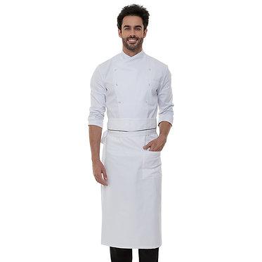 Avental de cintura com aba e detalhe em preto