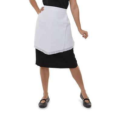 Avental de cintura em Piquet Branco