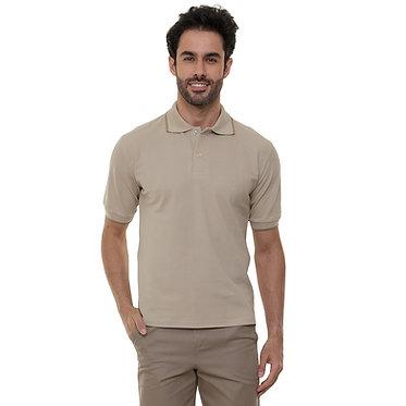 Camiseta Pólo Masculina Caqui